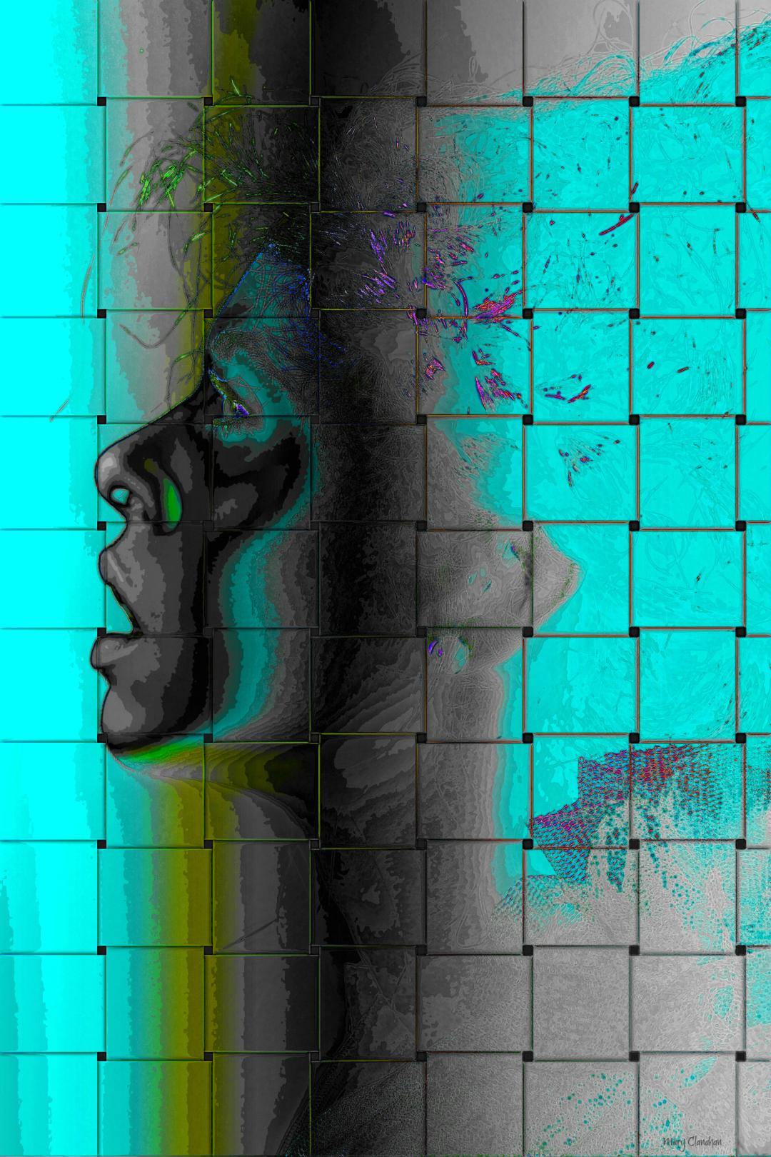 Digital Art Blue