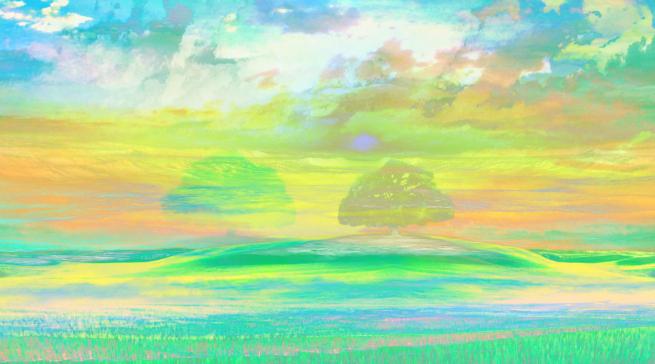 Trees, Impressionism Pastels