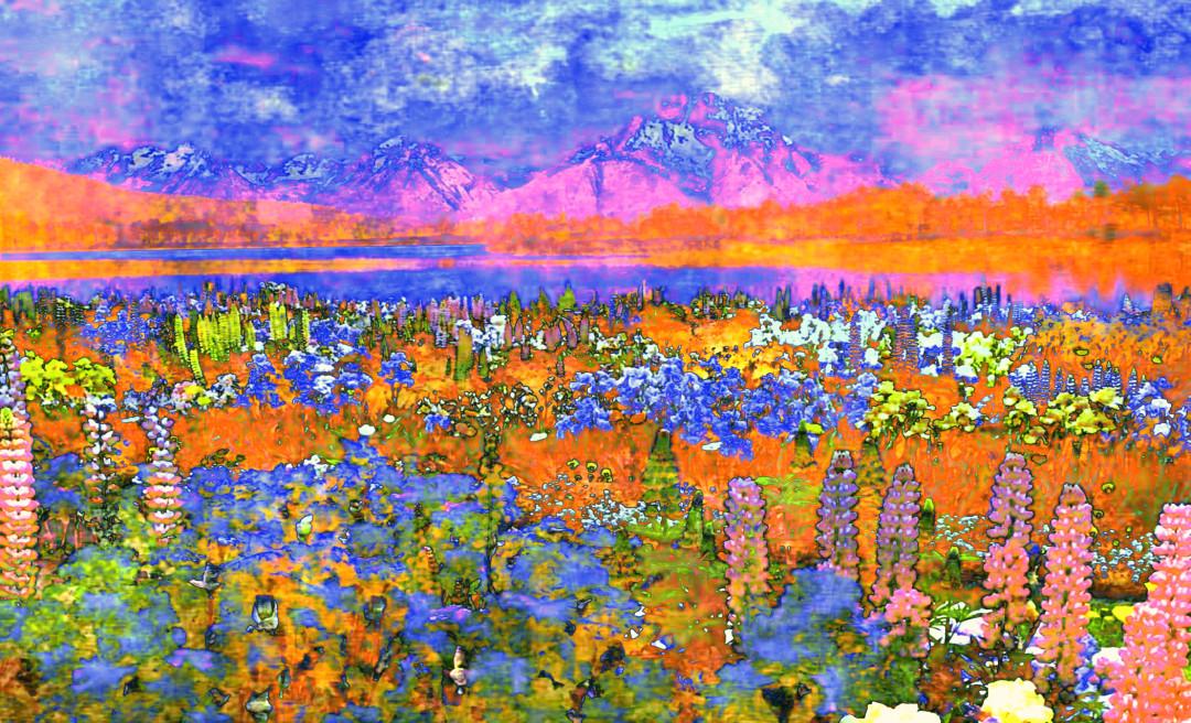 Impressionism Landscape Garden Flowers