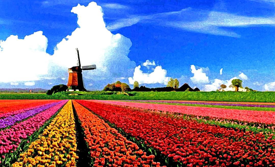Impressionism Landscape Windmill
