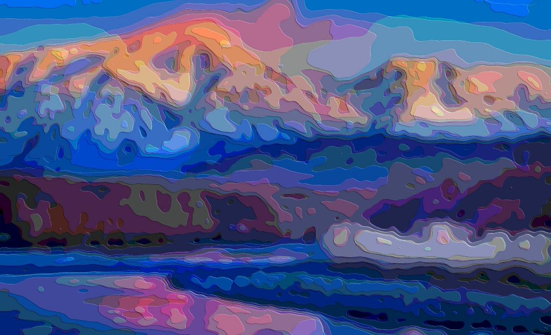 Art Print Mountain Sunset