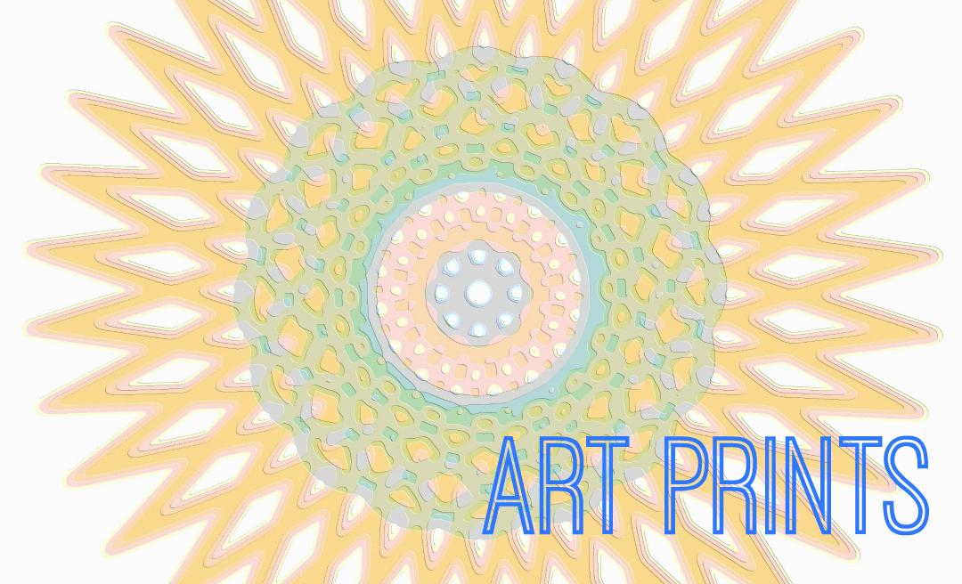 Art Print Spirograph Star