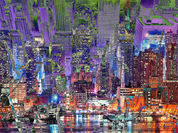 City Art Cityscape City Syncopation