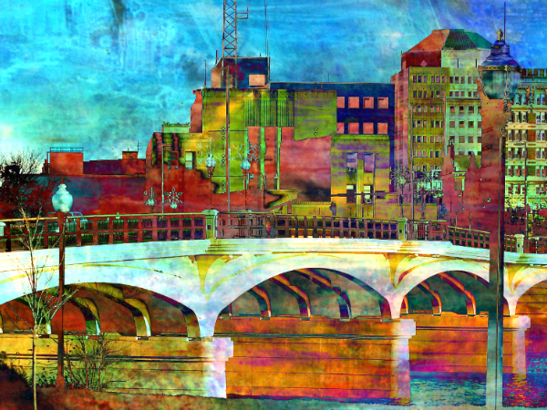 City Art Cityscape Hamilton OH