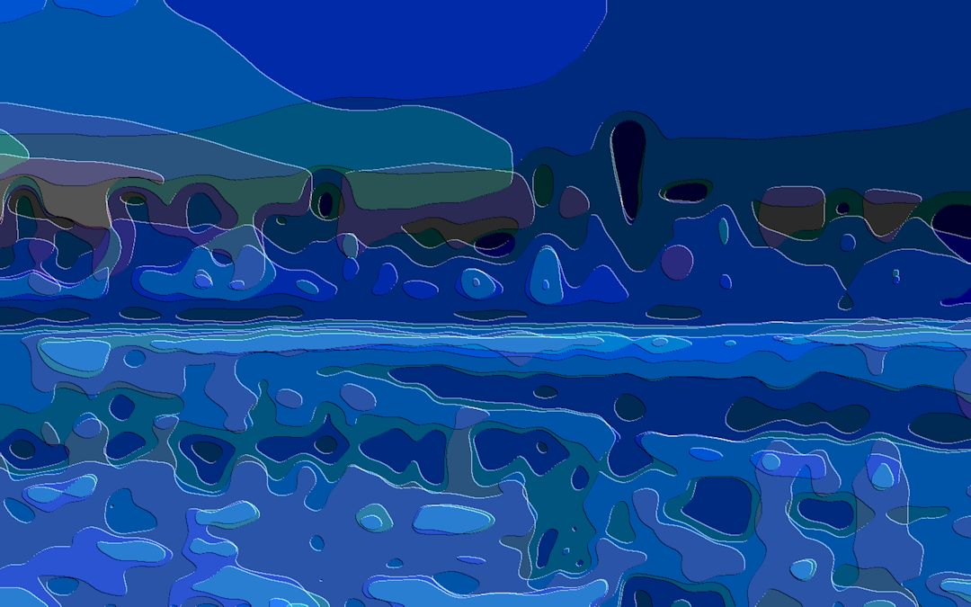 Landscape Art Blue