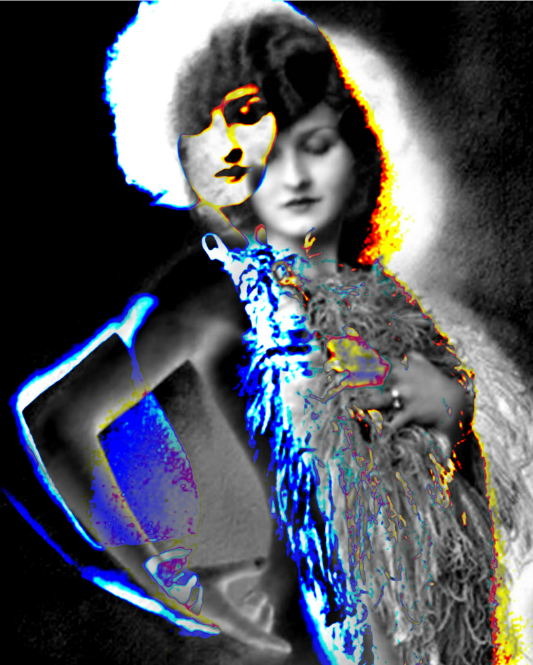 Digital Art Portraits Vintage Virginia