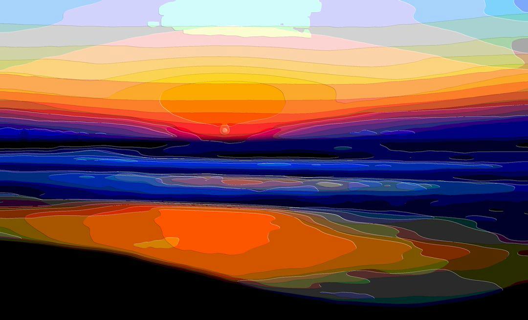 Landscape Art, Ocean Sunset