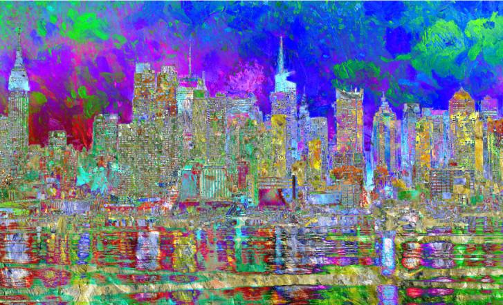 Shop City Art Cityscape