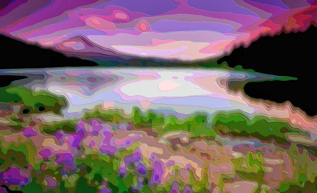 Art, Purple Lake Landscape