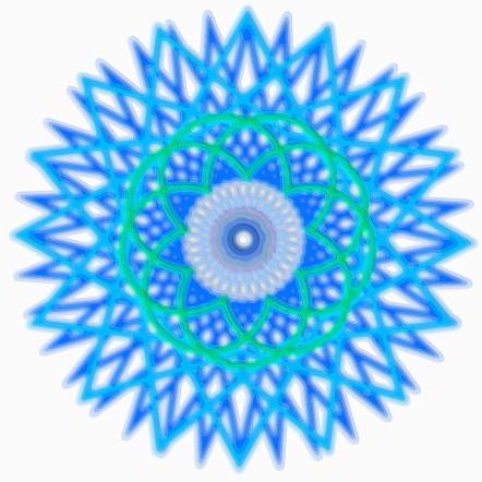 Spirograph Layer Art Blue Sphere