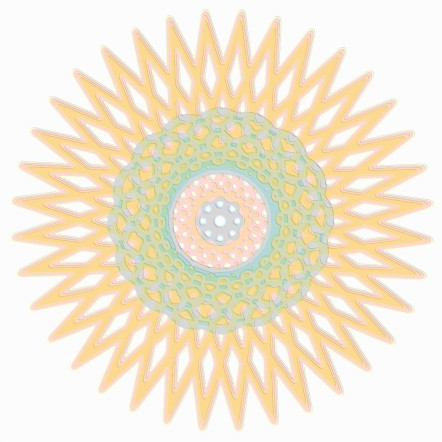 Spirograph Layer Art Red Star