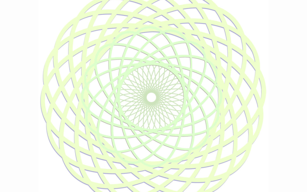 Abstract Art Layers, Colors and Spirograph