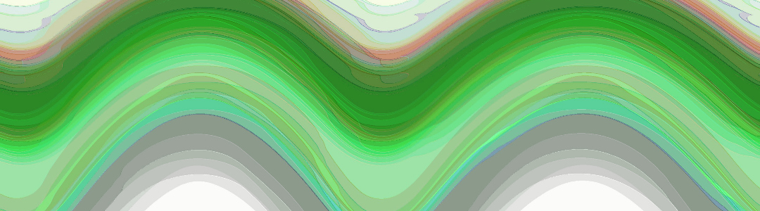 Abstract Art Layer Green