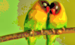 Bird Portrait Art Canary