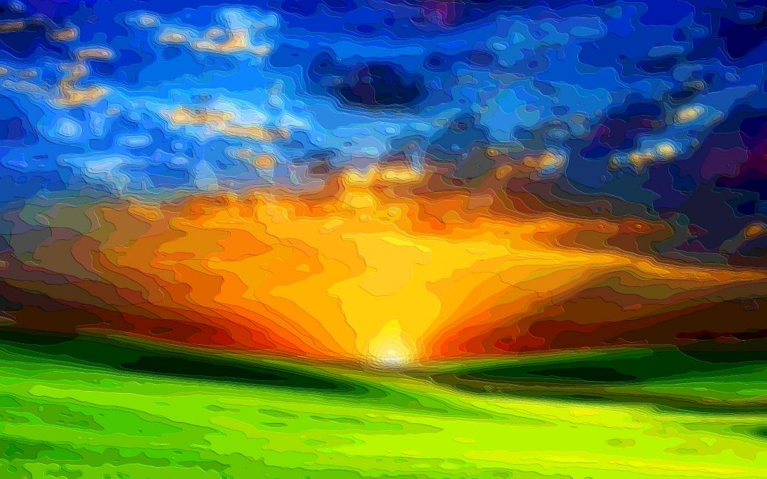 Layer Art Landscape Field Sunset