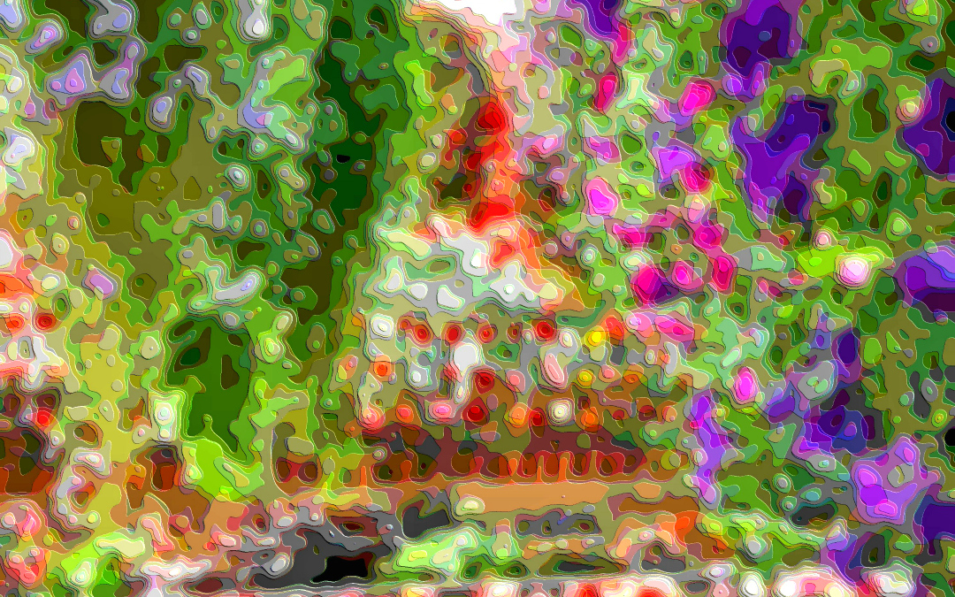Layer Abstract Garden Flowers