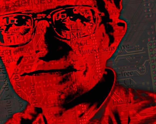 Noam Chomsky Portrait Art