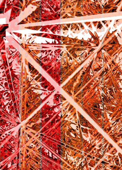 Abstract Cubic Tile Marsala