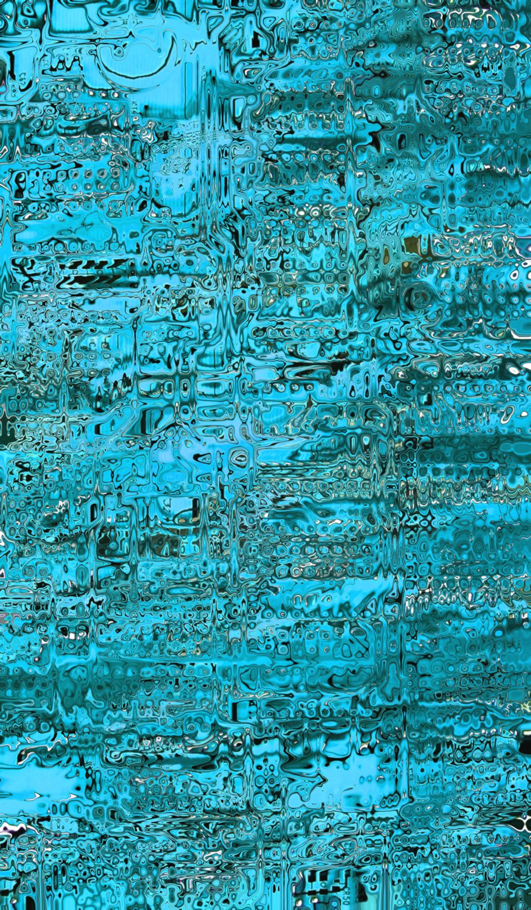Abstract Distortion Rain Blue