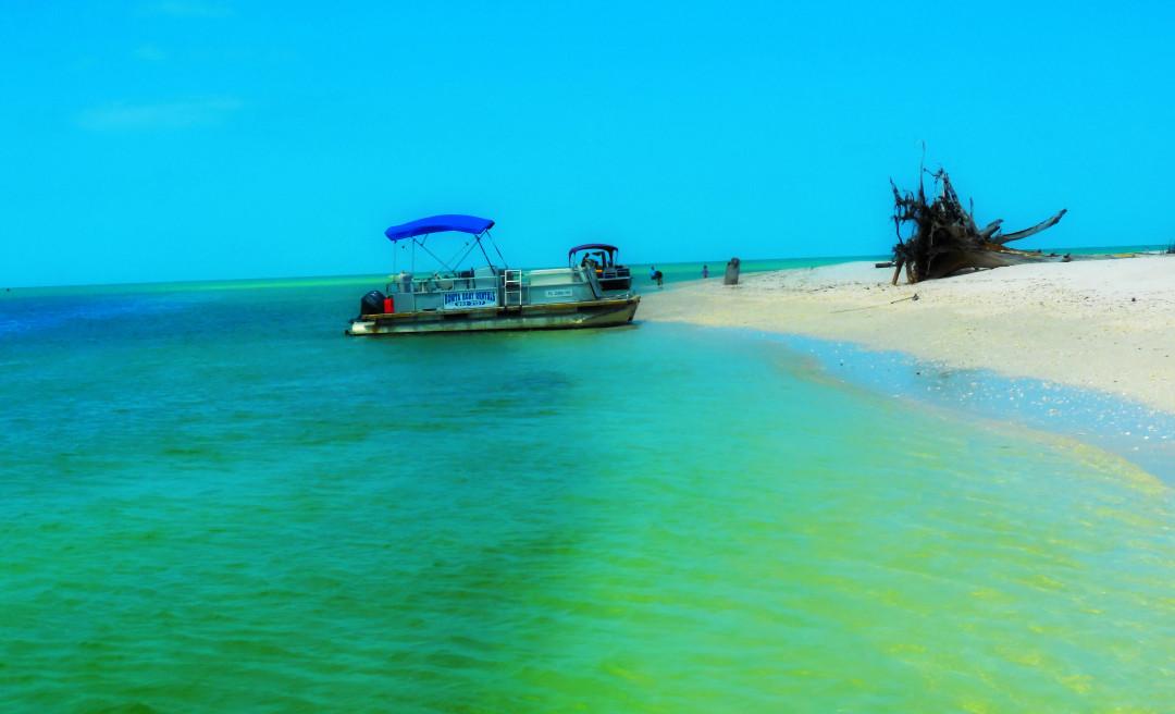 Naples Beach Boat Photo